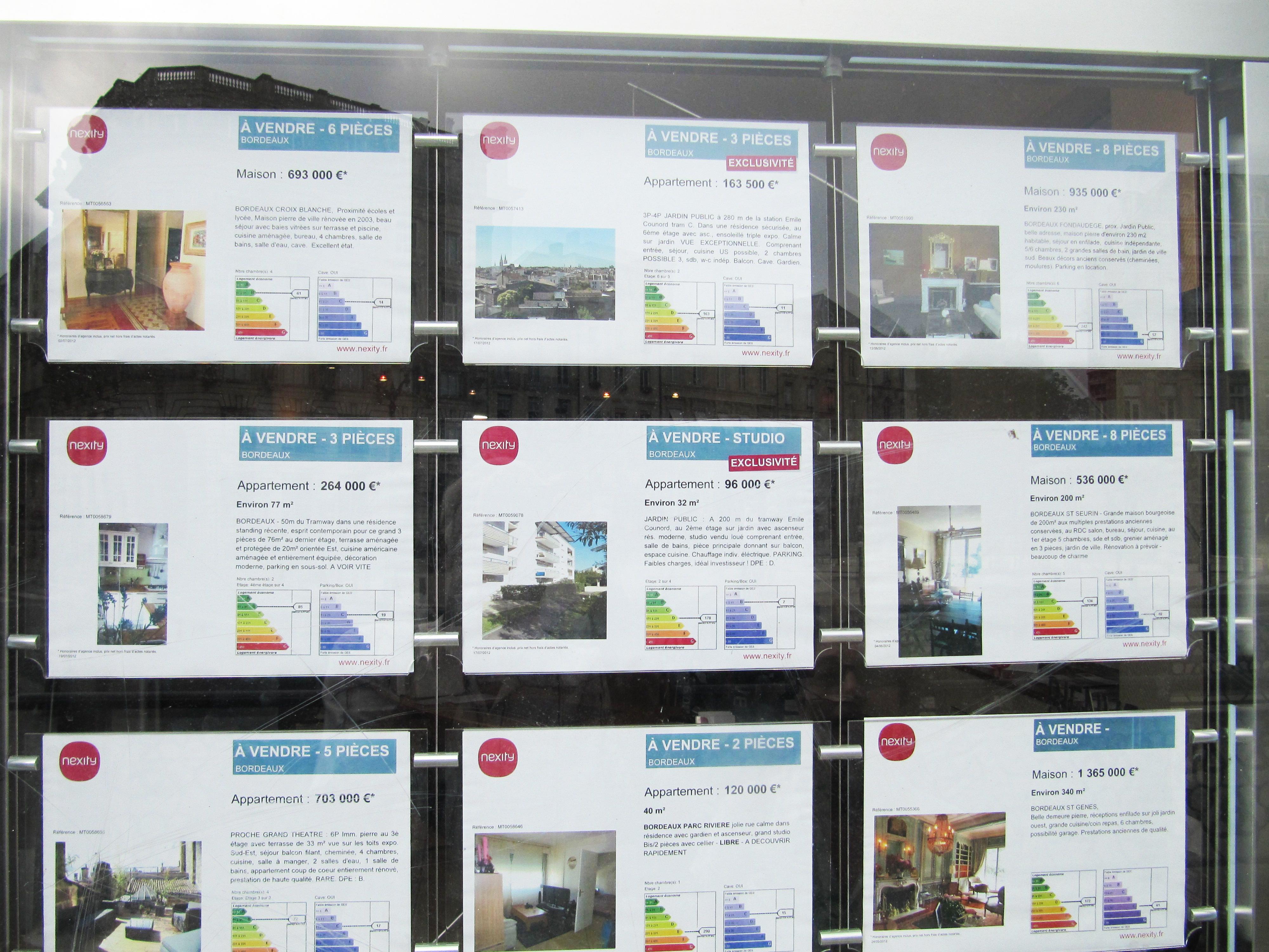 etiqueta energética en inmobiliaria en francia